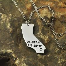 california ca necklace laude longitude necklace coordinate alloy state jewelry map charm map necklace