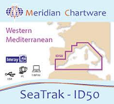 Imray Charts Mediterranean Id50 Meridian Digital Chart Pack Western Mediterranean