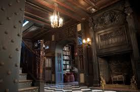 Greystone Court New York Film  Photo Location HALLS  STAIRWELL - Manor house interiors