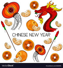 Traditional Symbols Traditional Symbols Of Chinese New Year Royalty Free Vector