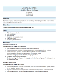 Dental Assistant Resume Examples Beauteous Certified Dental Assistant Resume Example