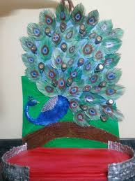 peacock pooja thali simple craft ideas