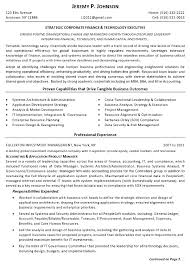 Resume Sample - Finance Tech Executive Page 1