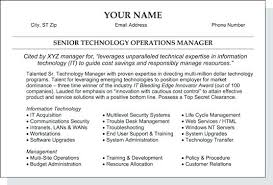 Part Of A Resume Summary A Good Resume Example