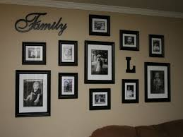 family collage wall home decor