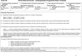 Program Notes Template Form P8 Heriot Watt University Undergraduate Programme Notes