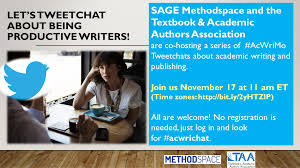 acwrimo archives methodspace let s tweetchat about being productive writers png
