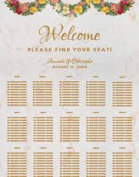 15 Table Seating Chart 15 Tables Wedding Seating Charts Zazzle Co Uk