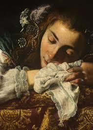 sleeping girl detail art by domenico fetti 1620 22