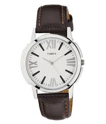 timex ti002b10100 brown leather analog watch buy timex timex ti002b10100 brown leather analog watch