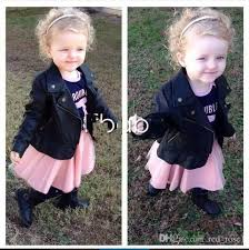 2016 new autumn baby girls pu leather coat high quality outwear clothing party princess baby jacket children clothes lightweight jackets for