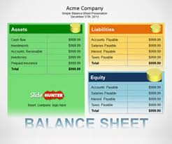 simple balance sheet example free simple balance sheet template for powerpoint free powerpoint