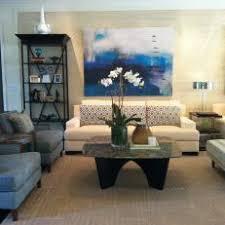 Blue and Cream Contemporary Living Room