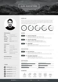 Mono Resume Template By Wwwikonome 40 Page Templates 40 Icons Custom Illustrator Resume