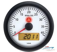 vdo viewline ivory 4k rpm tachometer 2 hourmeters clock viewline ivory 4 000 rpm 3 inch