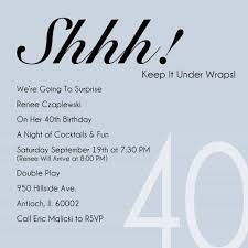 best 40th birthday invitation wording ideas with looking design the how to select the 40th birthday