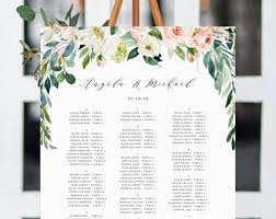 Online Wedding Seating Chart Template Wedding Seating Chart Template Alphabetical Seating Chart Greenery Wedding Seating Board Blush Floral Instant Download Templett W29