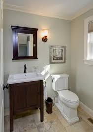 half bathrooms. Traditional Half Bath Remodel - Crown Molding, Tile Floor, Medicine Cabinet  Traditional-bathroom Bathrooms A