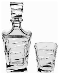 new age crystal whiskey decanter and 6 tumbler contemporary decanters by the crystal wonderland