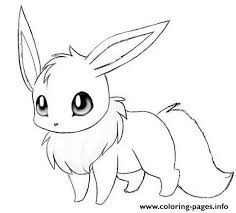 Small Picture Cute Eevee Coloring Pages Printable