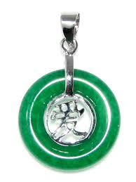 chinese jade love symbol pendant