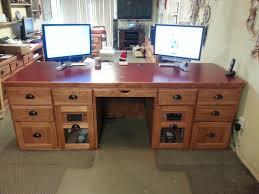 Image of: Custom Computer Desk Design Plans