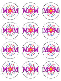 Mothers Day Best In The World Edible Cake Cupcake Toppers