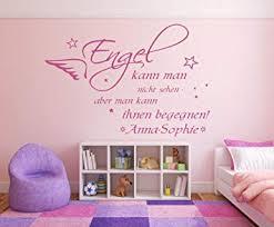 Wandtattoo Mit Namen Und Sternen Spruch Engel Kann Man Nicht