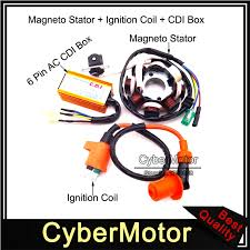 the gy6 engine will have a stator and a rectifier here is a wiring magneto stator racing ignition coil 6 pins wires ac cdi box for the gy6 engine will have a stator and a rectifier here is a wiring