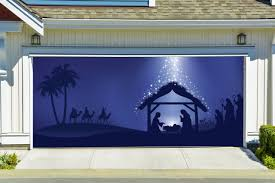 holy night decor banners for 2 car garage door covers outdoor murals 3d effect
