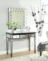 black desk with mirror the black mirrored makeup vanity desk with no mirror black vanity desk