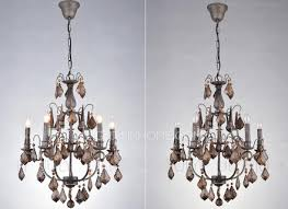 light antique crystal chandeliers for wrought iron