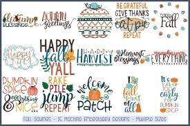 Free Machine Embroidery Sayings Designs Fall Sayings 15 Machine Embroidery Designs