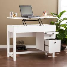 Home office standing desk Stand Up Edenton Midcentury Adjustable Height Desk White Sei Furniture Store Sitting Or Standing Desks Home Office Shop