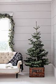 Dreamy Whites: French Farmhouse Christmas - love the natural tree