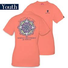 Simply Southern Size Chart Details About Youth Let Your Heart Be Your Compass Simply Southern Tee Shirt
