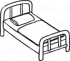 bed clipart black and white. Simple Clipart Bed Clipart Black And White U2013 Pencil In Color In Hospital  N