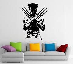 wolverine superhero wall decal wall vinyl sticker marvel comics interior home art wall murals bedroom home decor 7w01ne  on marvel comics mural wall graphic with wolverine superhero wall decal wall vinyl sticker marvel comics