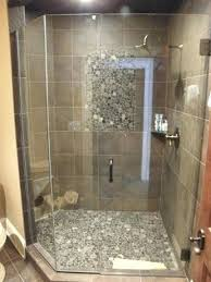 frameless shower door handle installation 2 3 angle shower enclosure 3 8 inch clear glass brushed nickel hardware installed in bathroom ideas grey