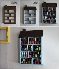 diy wood nail polish wall rack 2018