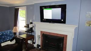 bristol ct tv over fireplace with wires concealed 7