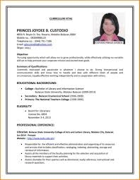 Resume Examples 15 Sample Of Curriculum Vitae For Job Application ...