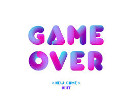 game over vector 3d bubble letters light background