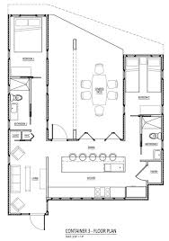 >sense and simplicity shipping container homes 6 inspiring plans floor plan for a home using three shipping containers in a u configuration r one studio architecture