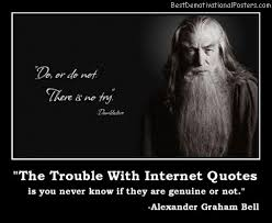 Internet Quotes Extraordinary The Trouble With Internet Quotes Demotivational Poster