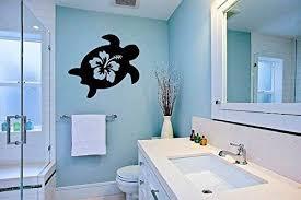 Hibiscus Flower with Ocean Sea Turtle Silhouette ... - Amazon.com