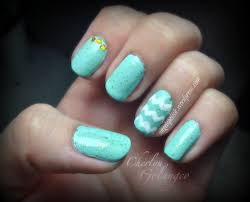 Nail Designs With Mint Color Mint Nails With Gold Accents Everything Nail Art