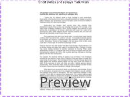 short stories and essays mark twain custom paper academic service short stories and essays mark twain a review on one of america s greatest humorists