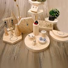 wood jewelry display stand earrings ring necklace bracelets display stand wood jewellery display showcase ali 82387078