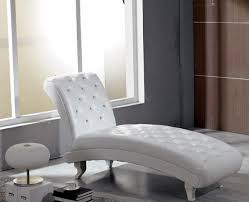 monte carlo white leather chaise with crystals